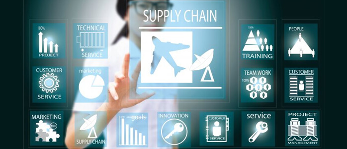 Supply Chain Manager hinter Dashboard